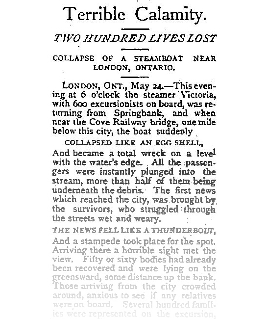 May 26, 1881 edition of The Essex Record of Windsor (Our Ontario)