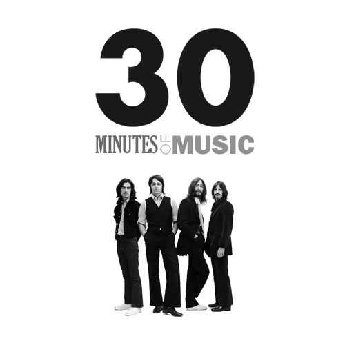 Cover Image for the 22nd episode of 30 Minutes Of Music, featuring all Beatles music.