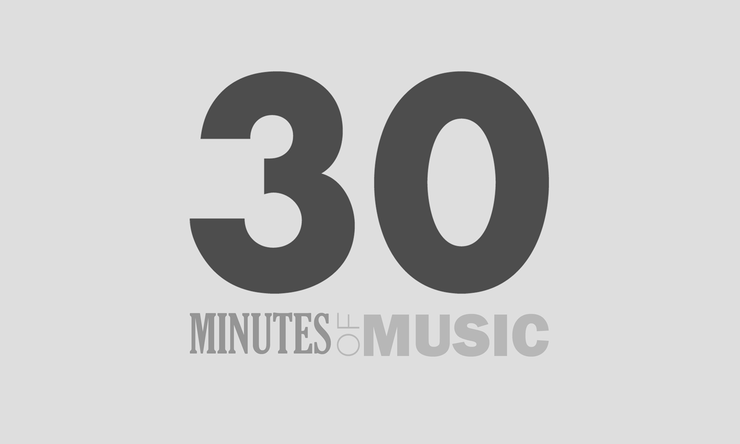The logo for the 30 Minutes of Music podcast.